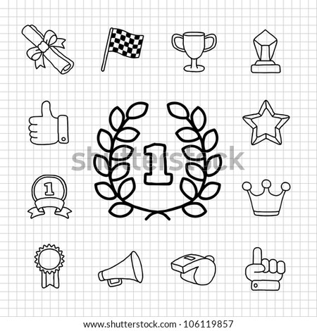 White Series | Award icon set