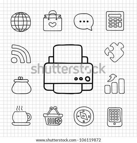 White Series | Office icon set