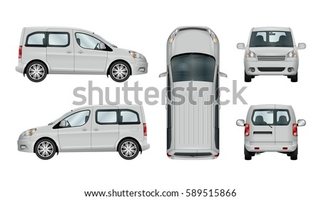 white service car template