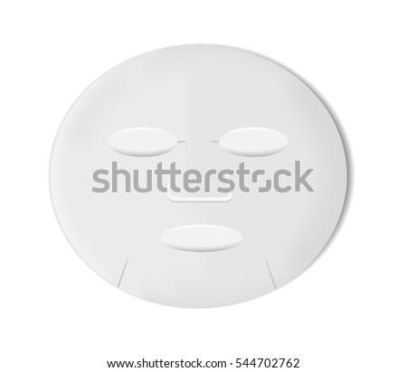 White sheet mask.