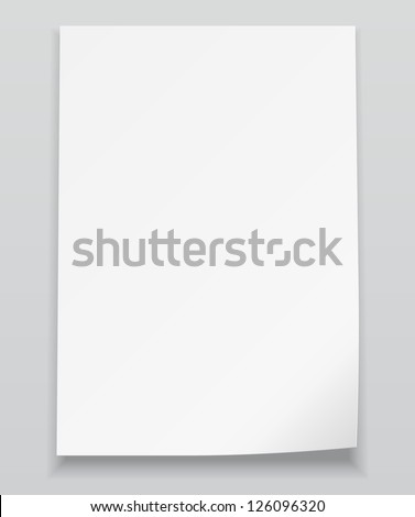 white sheet of paperrealistic