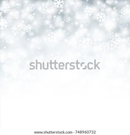white shining bokeh winter