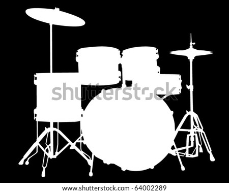 Drum Silhouette White Drum Set Silhouette White Drum Set Silhouette
