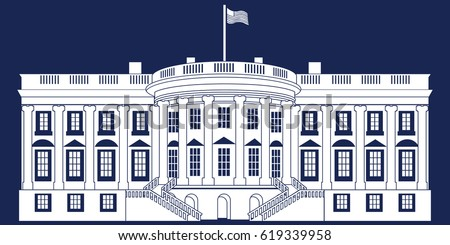 the white house vector free vector art at vecteezy rh vecteezy com White House Top View White House Aerial