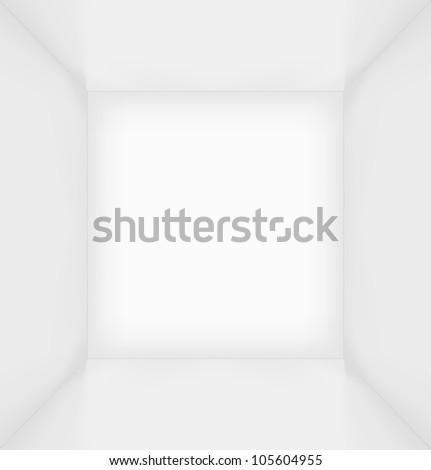 White simple empty room interior. Vector illustration