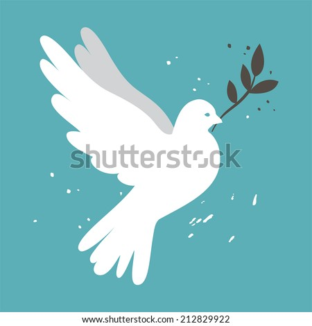 white simple vector dove on