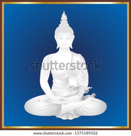 white simulates buddha