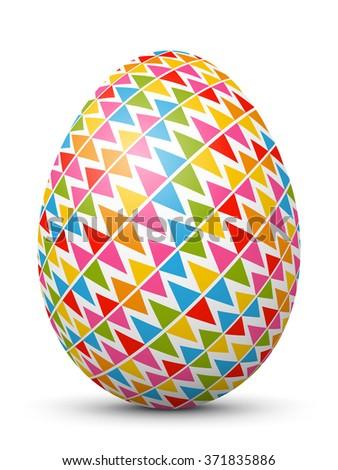 white single vector easter egg
