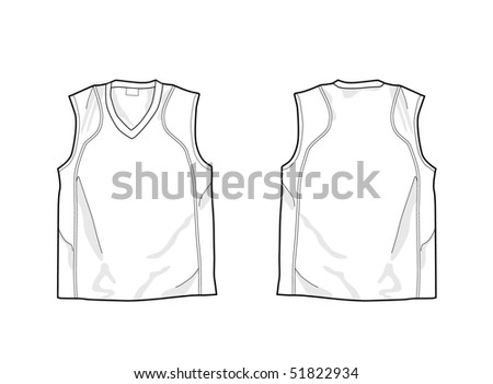White Sleeveless Shirt Template Front And Back