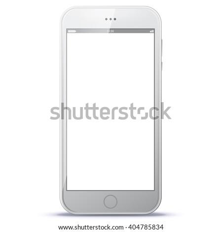white smart phone vector