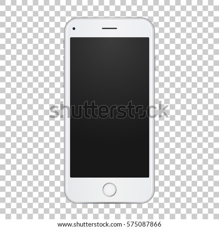 white smart phone with blank