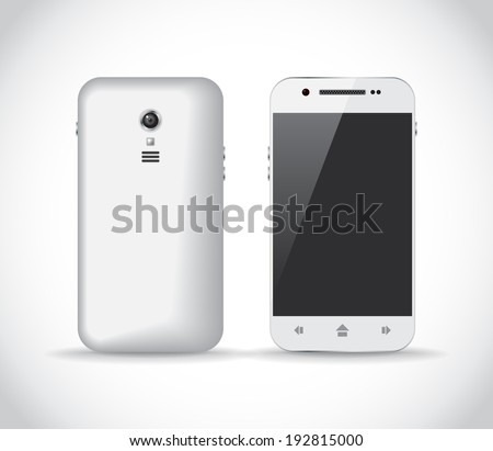 white smartphone from a front