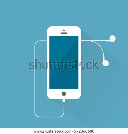 white smartphone iphone with