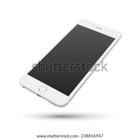 white smartphone vector mockups....