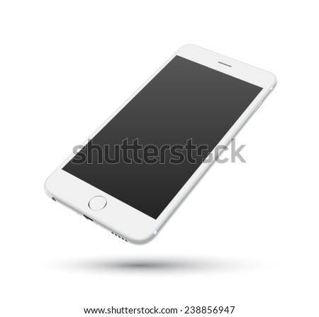 white smartphone vector mockups....