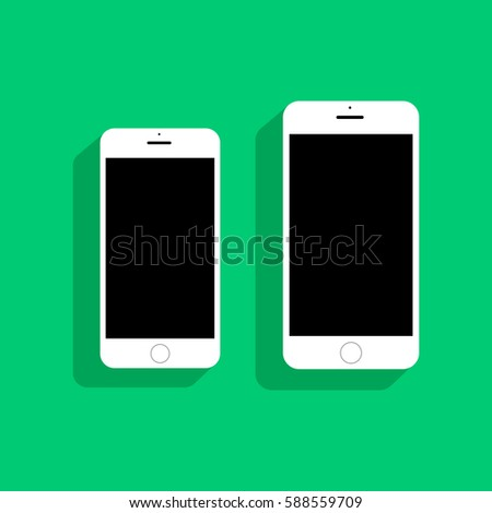 white smartphones iphone 6 and