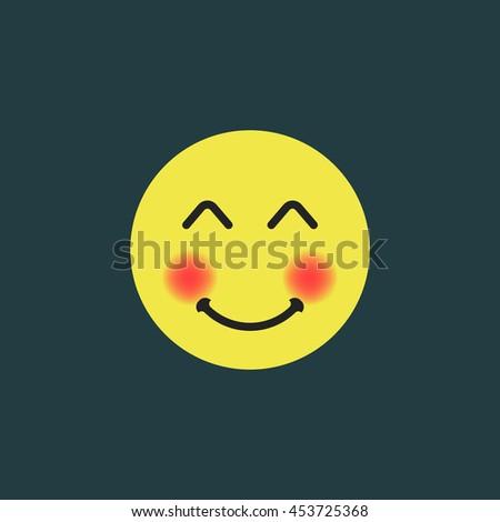 white smiling emoji smiling