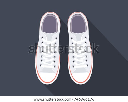 white sneakers sport shoes