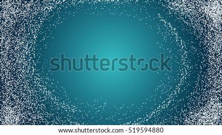 white snow texture on a blue