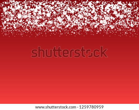White snowy border on red background #1259780959