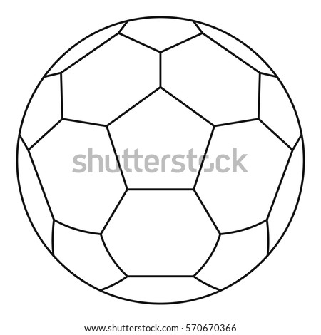 white soccer ball icon line