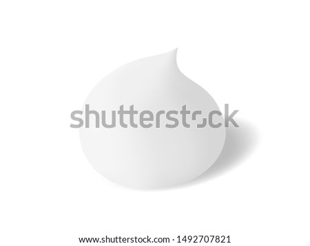 White soft and moisturizing foam for cleansing. Realistic vector foaming cleanser on white background
