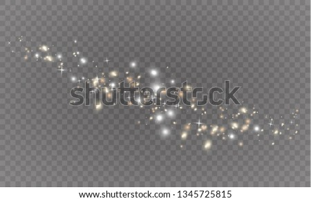 White sparks glitter special light effect. Christmas abstract pattern. Sparkling magic dust particles