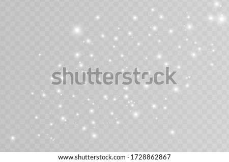 White sparks glitter special light effect. Vector sparkles on transparent background. Christmas abstract pattern. Sparkling magic dust particles  ストックフォト ©