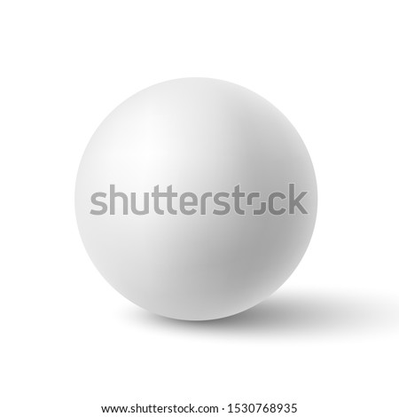 White sphere with shadow. Ball. Vector illustration.