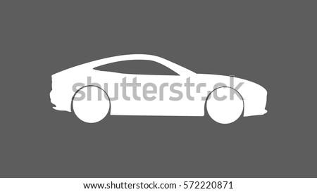 white sports car icon heading