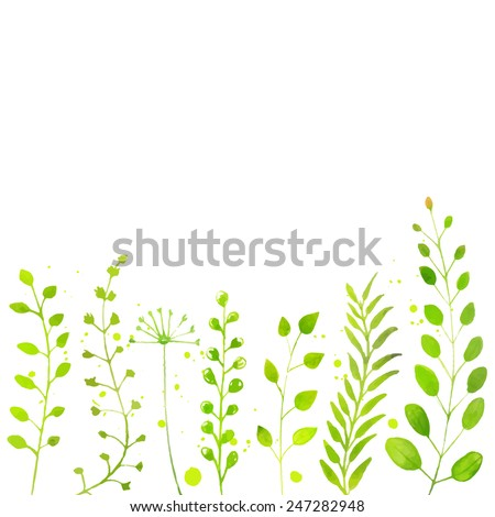 white spring background with