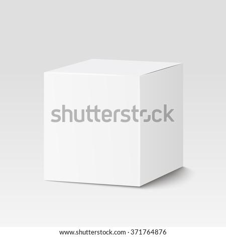 white square box. cardboard box ...