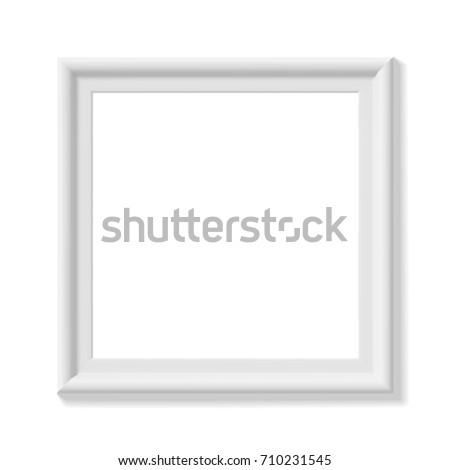White picture frame. Portrait orientation. Minimalistic detailed ...