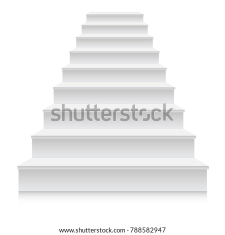 white stair template front view