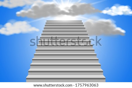 white staircase with sunlight