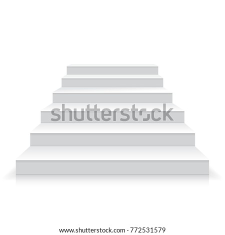 white stairs realistic