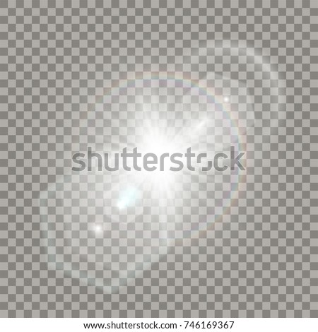 white star explosion with flare