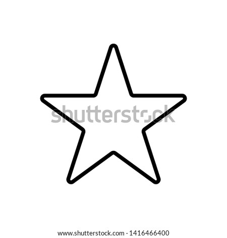 White star - Vector icon star Icon Vector / star icon / star- Vector icon.