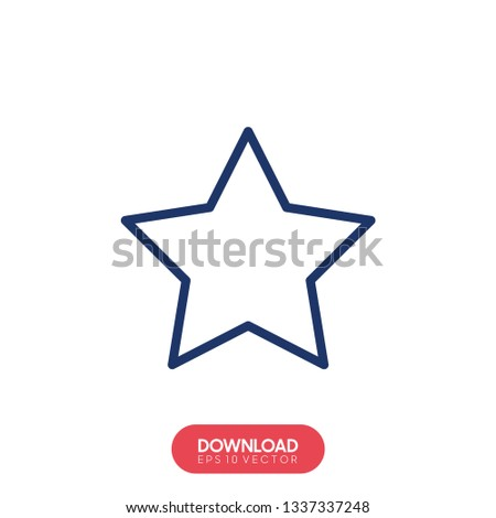 White star - Vector icon star Icon Vector / star icon / star- Vector icon. - Vector