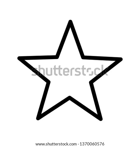 White star - Vector icon star Icon Vector / star icon / star- Vector icon. - Vector