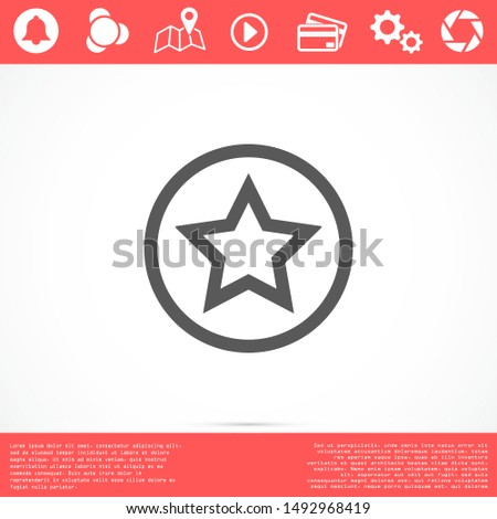 White star - Vector star Icon Vector / star icon / star- Vector icon. Star Icon vector.
