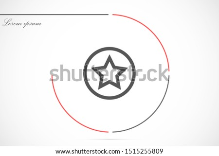 White star - Vector star Icon Vector / star icon / star- Vector icon. Star Icon vector. Simple flat symbol. Perfect Black pictogram illustration on white background.