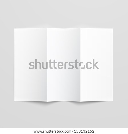 white stationery  blank trifold