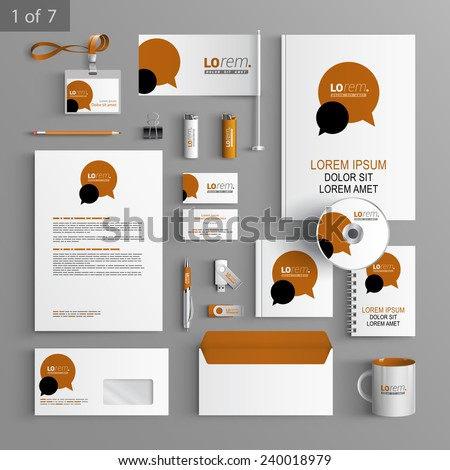 white stationery template