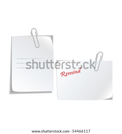 white stickers with paperclip