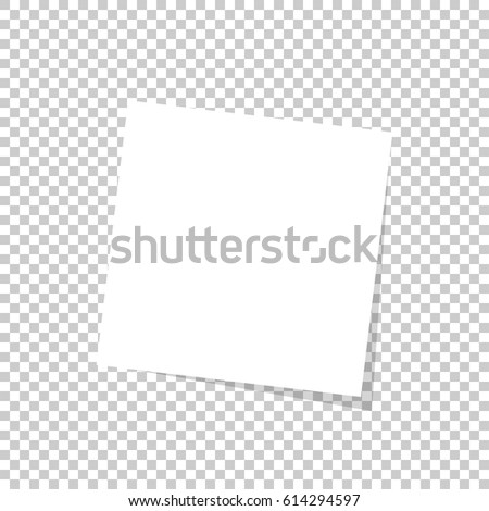 White sticky note isolated on transparent background