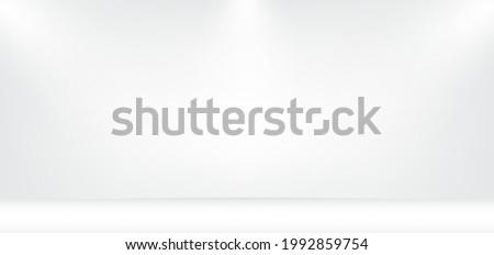 White studio background with beautiful lightning