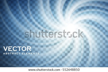 white swirl elements with
