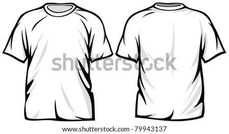 white t-shirt - stock vector