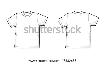 White T-shirt - back and front